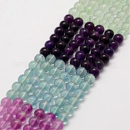 Natural Fluorite Beads StrandsG-D856-10-6mm-1