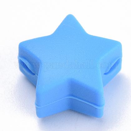 Abalorios de silicona ambiental de grado alimenticioSIL-T041-05-1