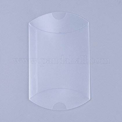 PVC Plastic Frosted Pillow Boxes CON-WH0068-25-1