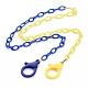 Collares de cadena de cable de plástico abs de dos tonos personalizadosX-NJEW-JN02825-05-1