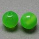 Imitación reronda abalorios de resina de ojo de gatoX-RESI-R157-8mm-M-2