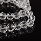 Half-Handmade  Faceted Transparent Glass Round Beads StrandsX-GF8mmC01-2