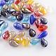 AB-Color Plated Drop Glass BeadsEGLA-R104-8x11
