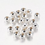 Iron Round Beads, Silver Color Plated, 6mm, Hole: 2~2.5mm