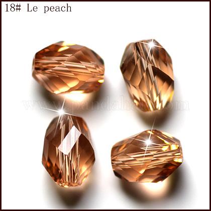 Imitation Austrian Crystal BeadsSWAR-F077-9x6mm-18-1