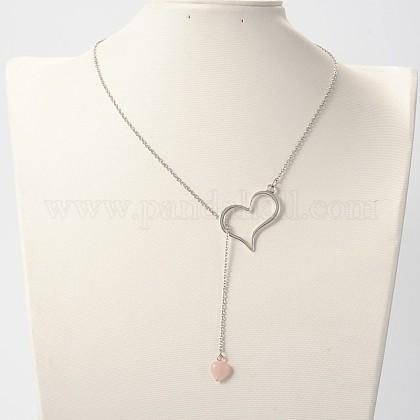 Trendy Alloy Heart Lariat NecklacesNJEW-JN01057-01-1
