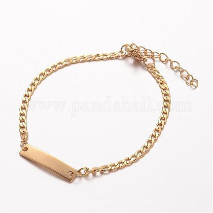 304 Stainless Steel ID BraceletsBJEW-K136-02G-1