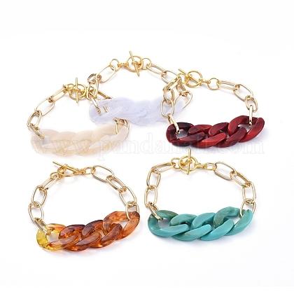 Chain BraceletsX-BJEW-JB05127-1