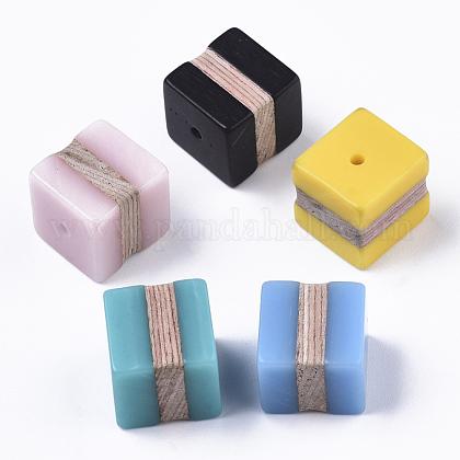 Cuentas de resina y maderaRESI-R427-04-1