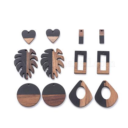 Colgantes de resina y madera de nogalRESI-X0001-35-1