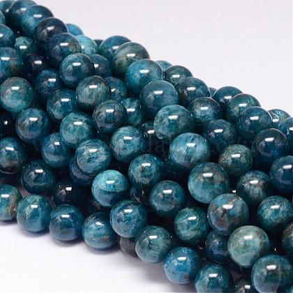 Natural Apatite Beads Strands G-P132-04-10mm-1