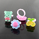 Cute Children's Day Jewelry Plastic Kids Rings for GirlsRJEW-S016-M2-3