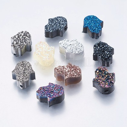 Abalorios de resina de piedras preciosas de imitaciónRESI-P010-A-1