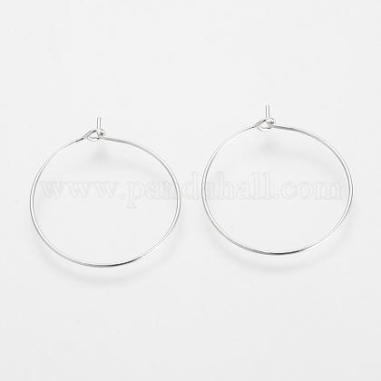 Brass Hoop EarringsKK-S327-10P-1