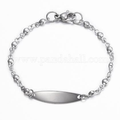 304 Stainless Steel ID BraceletsBJEW-H520-03P-1