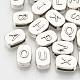 Tibetan Style Alloy Alphabet Slide CharmsTIBEB-R067-AS-LF-2