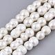Hebras de perlas keshi de perlas barrocas naturalesPEAR-Q015-030-1