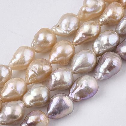 Hebras de perlas keshi de perlas barrocas naturalesPEAR-Q015-019B-02-1