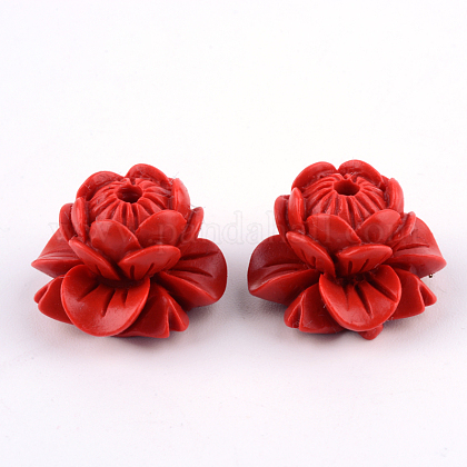 Lotus Cinnabar BeadsCARL-Q004-83-1