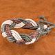 Trenzadas ajustables pulseras cordón de cuero unisexBJEW-BB15532-9