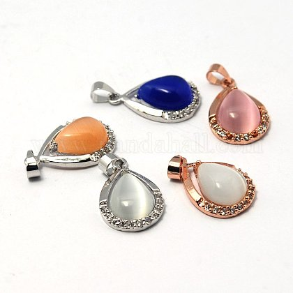 Cat Eye Pendants X-G-G379-M-1