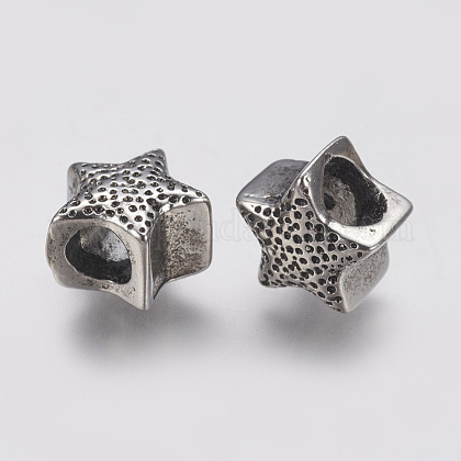 304 Stainless Steel European BeadsSTAS-J022-078AS-1