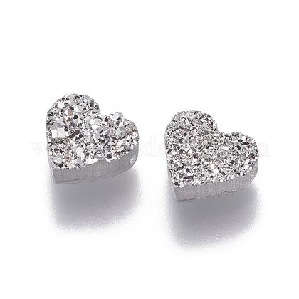 Perlas de resina de piedras preciosas druzy imitaciónRESI-L026-D04-1