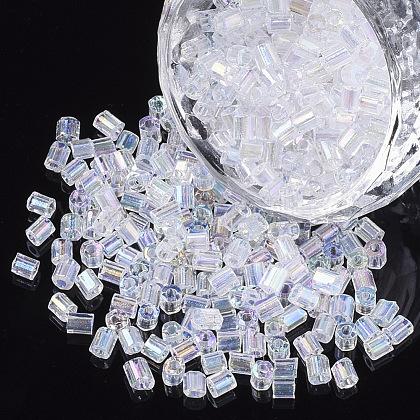 6/0 deux verre taillé perles de rocailleSEED-S033-13B-01-1