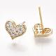 Brass Cubic Zirconia Stud Earring FindingsKK-S350-383-2