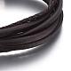 Cordón de cuero pulseras de varias vueltasBJEW-E352-38A-P-2