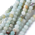 Natural Amazonite Round Bead Strands, 6mm, Hole: 1mm; about 63pcs/strand, 15.5