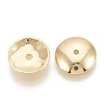 Apetalous Alloy Bead Caps, Half Round/Dome, Golden, 8x2mm, Hole: 1.2mm