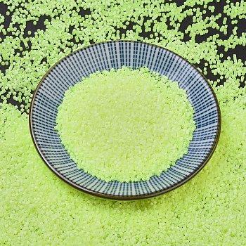 Cuentas de miyuki delica, cilindro, Abalorios de la semilla japonés, 11/0, (seda db1857) dentro de la ayuda de cal teñida, 1.3x1.6mm, agujero: 0.8 mm; aproximamente 2000 unidades / botella, 10 g / botella