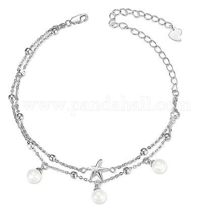 SHEGRACE® 925 Sterling Silver Multi-Strand BraceletsJB611A-1
