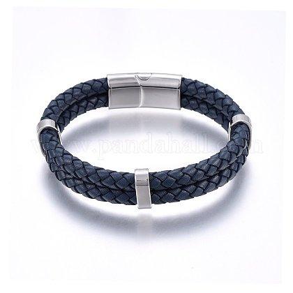 Leather Cord BraceletsBJEW-G603-01P-1