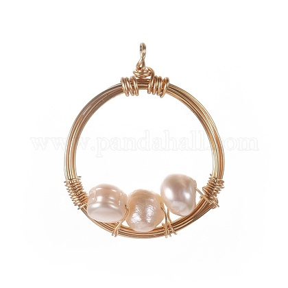 Colgantes naturales de perlas cultivadas de agua dulceX-PALLOY-JF00390-1