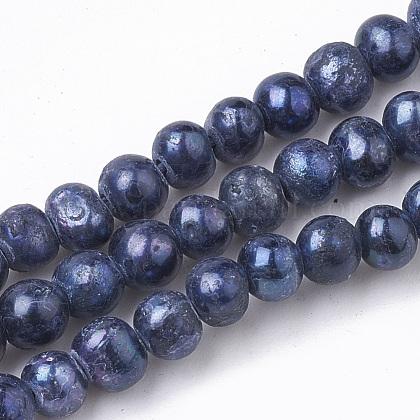 Hebras de perlas de agua dulce cultivadas naturalesPEAR-S013-06-1