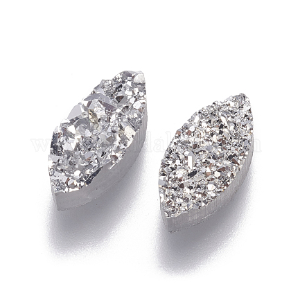 Perlas de resina de piedras preciosas druzy imitaciónRESI-L026-E01-1