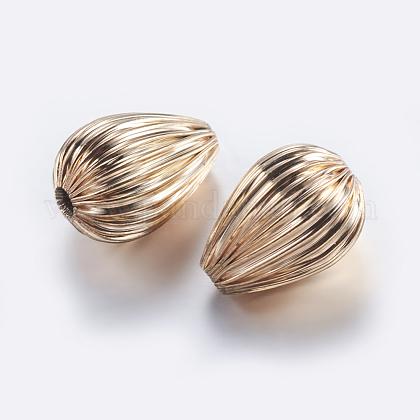 Perles ondulées en laitonKK-K197-29KCG-1