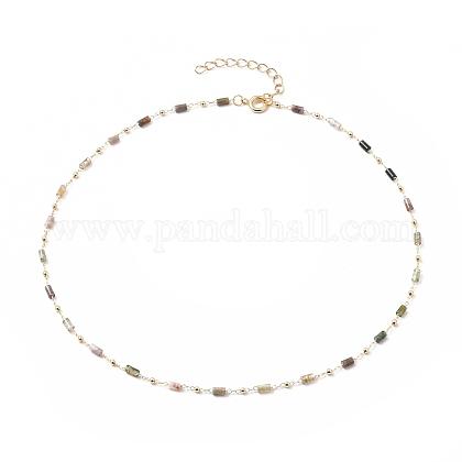 Natürliche Achat handgemachte Perlenketten Halskette HerstellungX-NJEW-JN03165-1