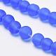 Chapelets de perles en verre transparente  GLAA-Q064-09-8mm-3