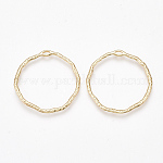 Brass Open Back Bezel Pendants, For DIY UV Resin, Epoxy Resin, Pressed Flower Jewelry, Ring, Nickel Free, Real 18K Gold Plated, 31.5x30.5x1.5mm, Hole: 1x3mm