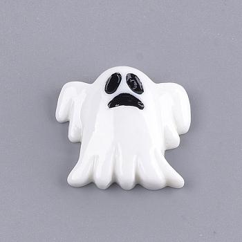 Кабошоны из смолы, призрак, белые, 21.5x23x7 мм