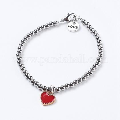 304 pulseras del encanto del acero inoxidableBJEW-JB03794-1