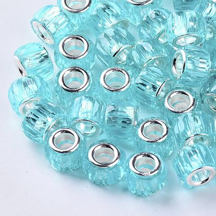 Transparent Resin European BeadsRPDL-Q023-A-C01-1