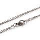 Toma de collar de cadena de cable 304 de acero inoxidable, color acero inoxidable, 17.7 pulgada (45 cm), 2 mm; link: 2.4x2x0.5 mm