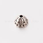 Apetalous Tibetan Style Alloy Bead Cones, Lead Free, Antique Silver, 5x8mm, Hole: 1.5mm