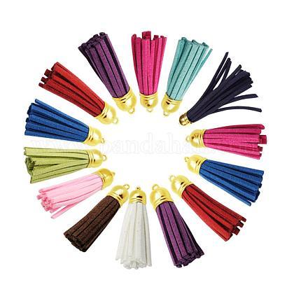 Suede Tassels Pendant DecorationsDJEW-JP0001-05A-1