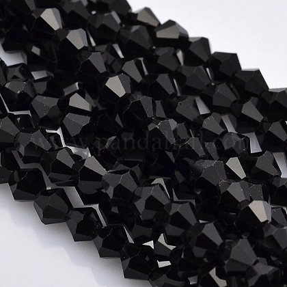 Faceted Bicone Glass Beads StrandsEGLA-P017-3mm-04-1