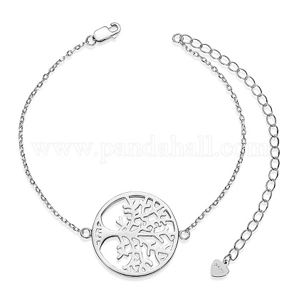 SHEGRACE® 925 Sterling Silver Link BraceletsJB566A-1